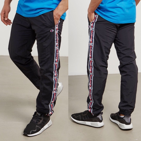 store huge selection of exquisite design Champion Retro Tape Logo Track Jogger Pants (Gray)
